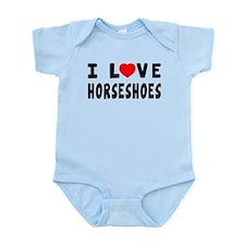 I Love Horseshoes Infant Bodysuit