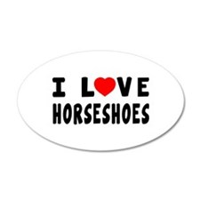 I Love Horseshoes Wall Decal