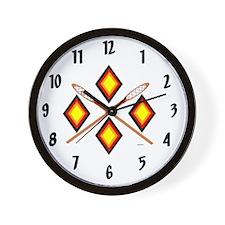 SOUTHEAST TRIBAL STICKBALL Wall Clock