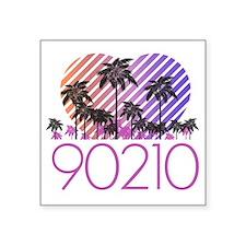 """Retro 90210 Square Sticker 3"""" x 3"""""""