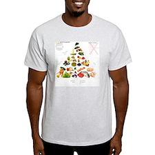 Paleo Madpyramiden med paleoblog.dks T-Shirt
