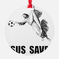Jesus Saves Soccer Ornament