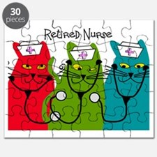 Retired Nurse Blanket CATS Puzzle