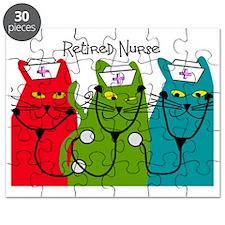Retired Nurse Blanket CATS Puzzle