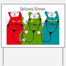 Retired Nurse Blanket CATS Yard Sign
