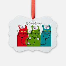 Retired Nurse Blanket CATS Ornament