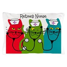 Retired Nurse Blanket CATS Pillow Case