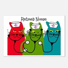 Retired Nurse Blanket CAT Postcards (Package of 8)