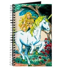 unicorn and maiden Large Print Journal