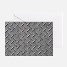 Diamond Plated Steel Greeting Card