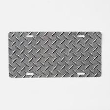 Diamond Plated Steel Aluminum License Plate