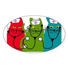 black cats NURSE BEST Decal