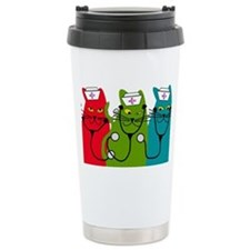 black cats NURSE BEST Travel Mug