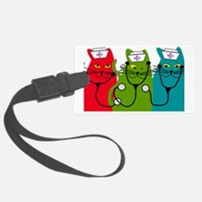 black cats NURSE BEST Luggage Tag