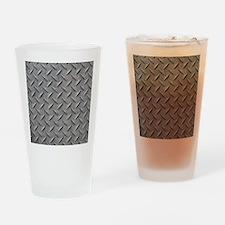 Diamond Plated Steel Drinking Glass