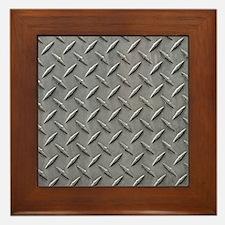 Diamond Plated Steel Framed Tile