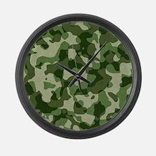 Camo Large Wall Clock