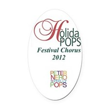 Holiday Pops Chorus 2012 Oval Car Magnet
