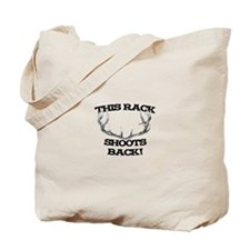 This Rack Shoots Back Tote Bag