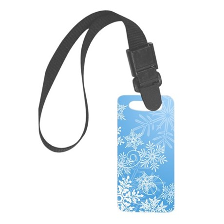 Snowflakes Small Luggage Tag