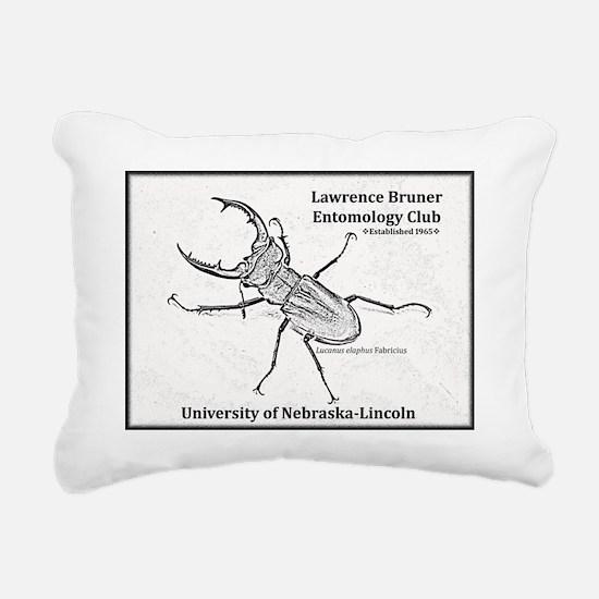 Stag beetle logo Rectangular Canvas Pillow