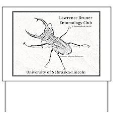 Stag beetle logo Yard Sign
