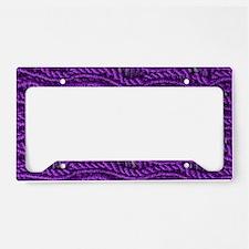 Purple Yarn License Plate Holder
