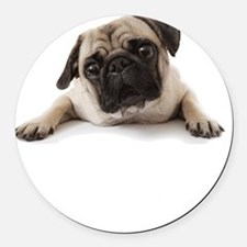Pugs Not Drugs Round Car Magnet