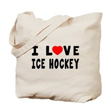 I Love Ice Hockey Tote Bag