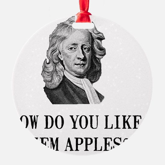 Sir Isaac Newton Apple Ornament