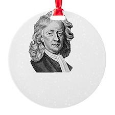 Sir Isaac Newton Apple Round Ornament