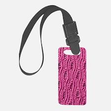 Pink Yarn Pattern Luggage Tag