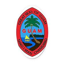 GUAM SEAL Oval Car Magnet