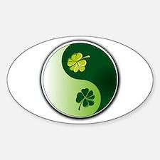 Ying Yang Irish! Oval Decal