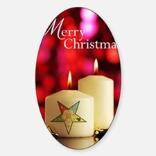 Eastern Star Christmas Card Sticker (Oval)