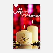 Masonic Christmas Card Rectangle Car Magnet
