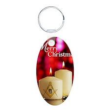 Masonic Christmas Card Keychains