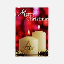 Masonic Christmas Card Rectangle Magnet