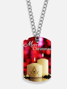 Masonic Christmas Card Dog Tags