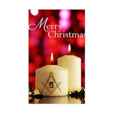 Masonic Christmas Card Decal