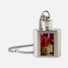 Masonic Christmas Card Flask Necklace
