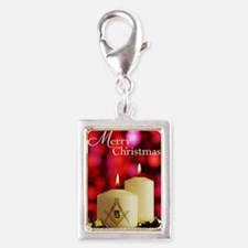 Masonic Christmas Card Silver Portrait Charm