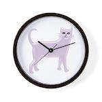 Violet Cat Wall Clock
