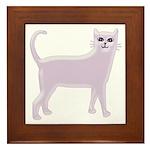 Violet Cat Framed Tile