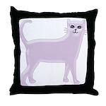 Violet Cat Throw Pillow
