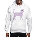 Violet Cat Hooded Sweatshirt
