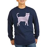 Violet Cat Long Sleeve Dark T-Shirt