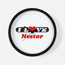 I Love Nestor Wall Clock