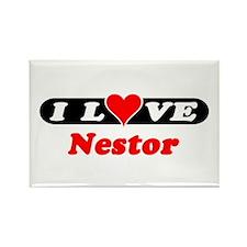 I Love Nestor Rectangle Magnet (100 pack)