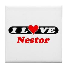 I Love Nestor Tile Coaster